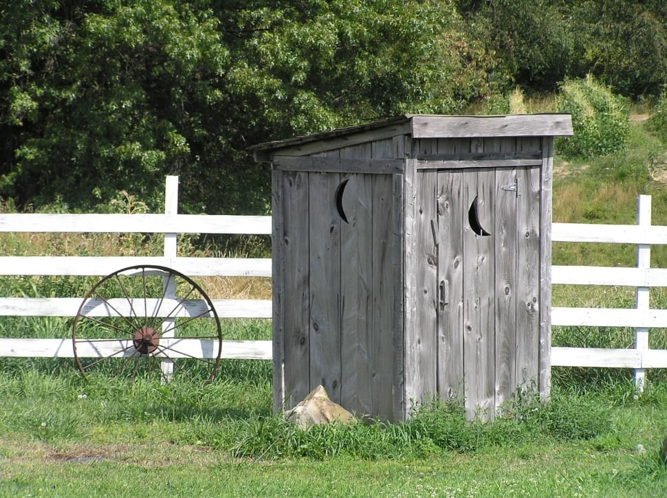 outhouse rural rustic wallpaper preview