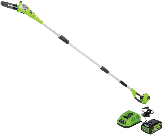 Greenworks 8.5 40V Cordless Pole Saw 2.0 AH Battery Included 20672