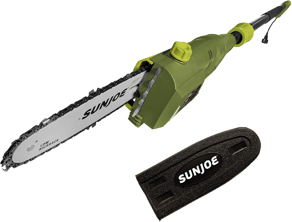 Sun Joe SWJ800E 8 Inch 6.5 Amp Telescoping Electric Pole Chain Saw with Automatic Chain Lubrication System