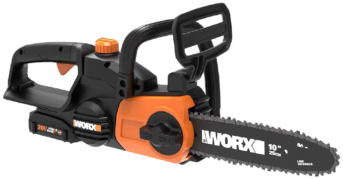 Worx WG322 20V Power Share Cordless 10 inch Chainsaw with Auto Tension