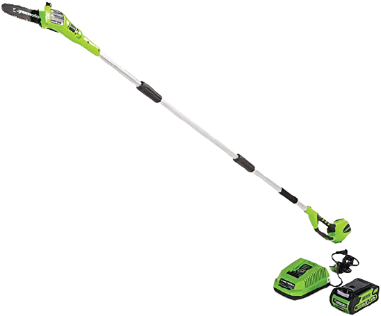 Greenworks 8.5 40V Cordless Pole Saw 2.0 AH Battery Included 20672 1