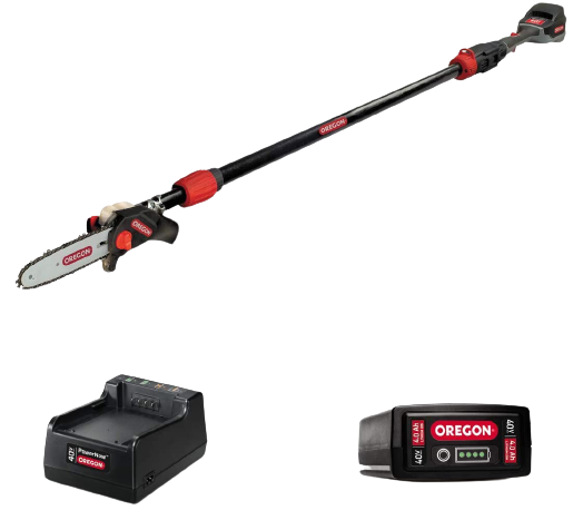 Oregon Cordless PS250 8 Inch 40V Telescoping Pole Saw with 4.0Ah Battery and Charger 1